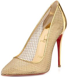 Christian Louboutin 'Follies' Fishnet Pumps