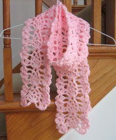 Lacy Pineapple Crochet Scarf - stylish