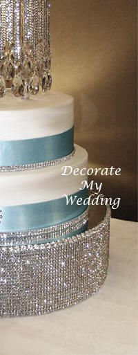 DECORATE MY WEDDING Crystal Wedding Cake Stands VICTORIA CAKE STAGE