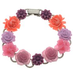 Kit - Bouquet for Mom Bracelet | Beadaholique  Love the flowers but they are cabs not beads. Pinning for future reference because I know I'll want to know where I saw them!