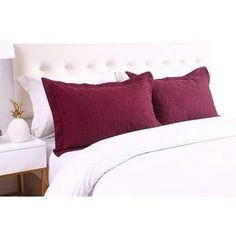 Shop for Porch & Den Manor Embroidered Pillow Sham (Set of Get free delivery On EVERYTHING* Overstock - Your Online Bedding Basics Store! Cute Pillows, Bed Pillows, Best Pillows For Sleeping, Quilted Pillow Shams, Comfortable Pillows, Pillow Top Mattress, Satin Sheets, Buy Bed, Bedding Basics