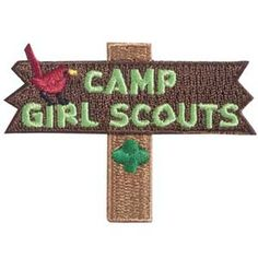 CAMP GIRL SCOUTS IRON-ON FUN PATCH