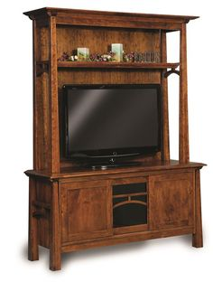 Love the look of this entertainment center for the family room