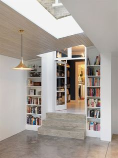 trendy home bedroom ideas book shelves London Fields, Two Storey House, House Extensions, Kitchen Extensions, Trendy Home, Open Plan Kitchen, Home Renovation, Basement Renovations, Home Interior Design