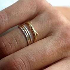 Thin Band Rose Gold by colbyjune on Etsy, $95.00
