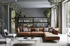 You saw it, you loved it, you just had to buy it. But, what exactly do you put with that lovely brown sofa to make your living room decor work for you? Your sof inspiration Living Rooms With Brown Sofas: Tips & Inspiration For Decorating Them Living Room Seating, Living Room Sofa, Living Room Interior, Home Living Room, Living Room Designs, Apartment Living, Corner Sofa Living Room Layout, Nordic Living Room, Corner Couch