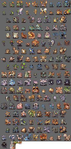Pokemon RedBlue Revamp @ PixelJoint.com