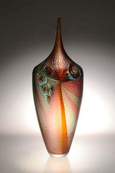 Custom Made Murano Art Glass Vase by Afro Celotto