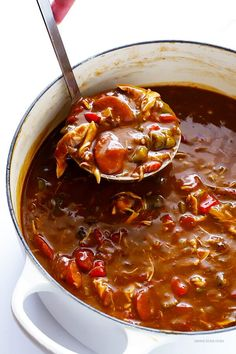 cajun and creole recipes My all-time favorite gumbo recipe is FULL of rich flavors, made with andouille sausage and chicken, and irresistibly delicious! Creole Recipes, Cajun Recipes, Seafood Recipes, Soup Recipes, Great Recipes, Chicken Recipes, Cooking Recipes, Favorite Recipes, Gumbo Recipes