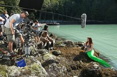 """#OnceUponATime #BehindTheScenes Love the """"green screen"""" tail!"""