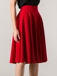 Dolce & Gabbana Red Pleated Skirt