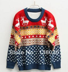 Free shipping:new 2013 autumn -summer sweater women,cardigan women, Christmas snowflake color spell color fawn pullover