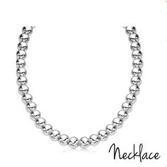Italian sterling silver bead necklace BRAND NEW WITH TAG!  Classic sterling silver solid beads graduate in size 10mm with a high-polished finish. For long-lasting quality, beads are strung on a durable sterling silver chain. Made in Italy                                  > N O  T R A D E > B U N D L E  T O  S A V E > A L L  R E A S O N A B E L  O F F E R S             W I L L  B E  A C C E P T Jewelry Necklaces