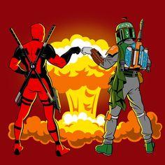 Deadpool & Boba Fett awesome.