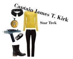"""Captain Kirk"" by tardisblueimpala-221b ❤ liked on Polyvore featuring Ted Baker, Morgan, Jigsaw, Forever 21, CaptainKirk, kirk, startrek, jamestkirk and originalstartrek"