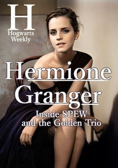 ◘ inside-the-leaky-cauldron: Hermione Granger-Weasley ᗯᎥʑคяƊяᎽ. Hogwarts Weekly Inside the Big Seven ◘ Harry Potter Film, Harry Potter Fan Art, Harry Potter Universal, Harry Potter Fandom, Harry Potter World, Daniel Radcliffe, Emma Watson, Looney Tunes, Hogwarts