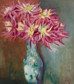 The Bouquet of Dahlias. Louis Valtat