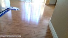 Bamboo laminate flooring Photo compliments: Kerry M.  #bambooflooring #laminate