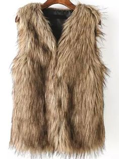 You just need a faux fur vest to be a real chic charming female .Don't make you look that chunky ,pick quality fur vest to make a slim fashion outfit