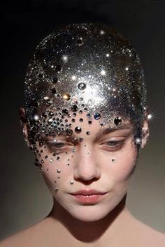 jewels on face | Face jewels on Pinterest | Jewels, Fantasy Makeup and Crystals