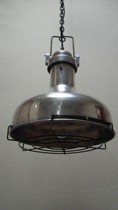 VINTAGE INDUSTRIAL LIGHT - OLD SHIPS ENGINE ROOM PENDANT | eBay http://www.ebay.co.uk/itm/VINTAGE-INDUSTRIAL-LIGHT-OLD-SHIPS-ENGINE-ROOM-PENDANT-/380613642127?pt=UK_HomeGarden_Lighting_Lamps_Lighting_SM=item589e57478f