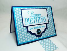 Stampin Up Masculine Handmade Card, Happy Birthday Everyone, by Stampin Amore