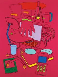 Biding Time (magenta), Michael Craig-Martin's Transience at the Serpentine Gallery. Hand Reference, Pose Reference, James Rosenquist, Michael Craig, Web Design Awards, Digital Painting Tutorials, A Level Art, Unusual Art, Popular Art