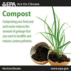 Composting food and yard waste reduces garbage in landfills and carbon pollution. Try it for yourself and #ActOnClimate!