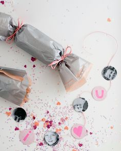 Baby Shower Crafts: Want a creative way to reveal your soon-to-be addition's gender? Pass out a confetti popper to each guest. Then, on the count of three, spring them open together for a surprising swirl of blue or pink confetti.