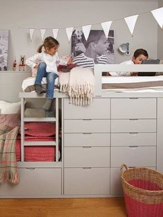 shared bedroom for boy and girl Boy And Girl Shared Bedroom, Shared Bedrooms, Kids Bedroom, Bedroom Decor, Bunk Beds Built In, Classy Living Room, Bedroom Photos, Kids Room Design, My New Room