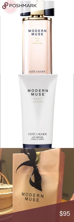 💕 Estée Lauder Modern Muse Parfum Set 💕 ***BRAND NEW IN SEALED BOX*** This set includes Estée Lauder Modern Muse Eau de Parfum 3.4 oz / 100 ml and Estée Lauder Modern Muse body lotion with gift bag! 💕 100% Authentic!!! 💯👍🏻 ✨LIMITED EDITION ✨One of my favorite Parfums! ❤️ I highly recommend it! 💯💕 Estee Lauder Makeup