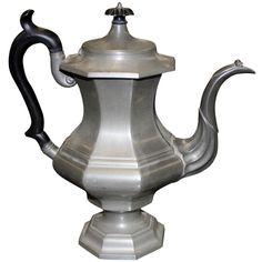 c. 1800 Boswell Gleason Pewter Teapot