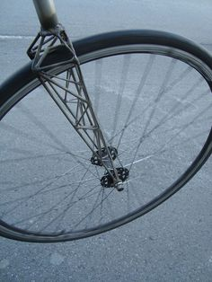 A fork of a bicycle created out of a truss system.
