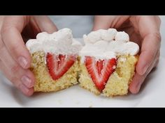 These Strawberries And Cream Cupcakes Will Keep You Up At Night