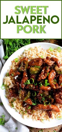 Thinly sliced pork and fresh jalapenos, fried until crispy, and coated in a garlicky spice sauce; Sweet Jalapeno Pork is an inexpensive dinner the whole family will love! #pork #jalapeno #sweet #spicy #whatsfordinner Sausage Recipes, Pork Recipes, Asian Recipes, Chinese Recipes, Recipies, Easy Cooking, Cooking Recipes, Kitchen Recipes, Chili