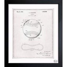 A patent print poster of a baseball glove invented by william p exclusive blueprints inspired by real vintage patent drawings illustrations handcrafted in the oliver gal artist co studios in miami florida malvernweather Choice Image