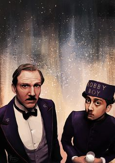 M. Gustave & Zero - The Grand Budapest Hotel - Mikee Flores