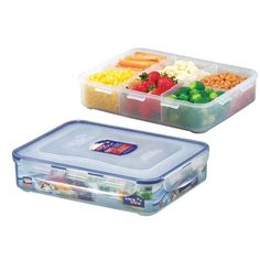 LockandLock Rectangular Food Container with Locking Lid and Divider, 91-Ounce, 11.2-Cup LockandLock http://www.amazon.com/dp/B005006Y4Q/ref=cm_sw_r_pi_dp_wHstwb1B3AHRV