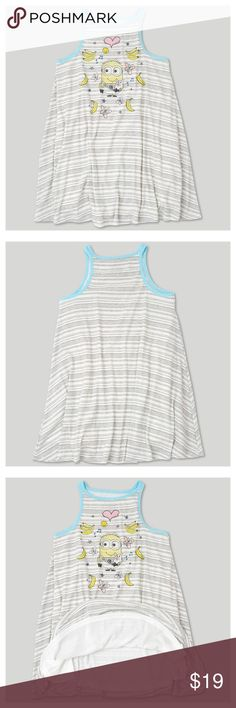 NEW Girls' Despicable Me 3 Tank Dress This knee-length Descendant 3 Dress will be your little girl's new favorite summer outfit. The light, breezy material will keep her cool on a hot summer's day, and the subtle lining underneath will ensure the sun doesn't shine through. The rayon and spandex mix will allow her to move freely as she plays.  available in size S | M | L condition: new without tags  Lightweight summer wear Pullover style, knee-length dress  @cjrose25 BOUTIQUE Dresses Casual