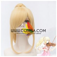 Wig Detail Your Lie In April Kaori Pony Tail Cosplay Wig Includes: Wig, Hair Net Important Information: Fitting - Maximum circumference of 55-60CM Material - Heat Resistant Fiber Style - Comes pre-sty