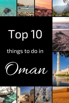 Want to explore the Sultanate? Here are 10 of the top things to do in Oman - Exploring the Grand Mosque, watching sunrise in the desert, wild camping, climbing on top of a fort... Check out the videos, photos and planning info: http://www.zigzagonearth.co