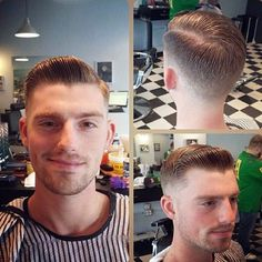 Ty Dehaven get's a fresh low fade slicked and parted to the side Mens Modern Hairstyles, Slick Hairstyles, Cool Haircuts, Haircuts For Men, Moustaches, Brylcreem Hairstyles, Short Hair Cuts, Short Hair Styles, Hair And Beard Styles