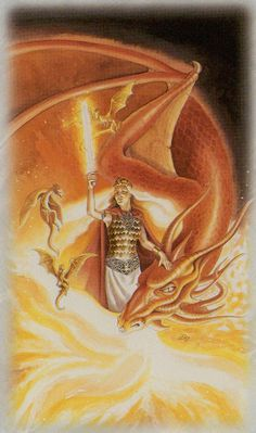 Celtic Dragon Tarot (DJ Conway, Lisa Hunt): Queen of Swords