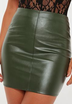 Discover the latest skirts and trends with Missguided. From maxi skirts to midi, mini and skater skirts. View our range and shop online today. Real Leather Skirt, Black Leather Skirts, Leather Dresses, Leather Outfits, Leather Shorts, Latex Mini Skirt, Mini Skirt Dress, Sexy Skirt, Sexy Rock