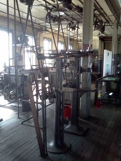 The fine machine shop on the second floor of the invention factory. Alva Edison, Patent Drawing, Machine Tools, Second Floor, Inventions, Belts, Two By Two, Workshop, Flooring