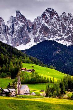 Mountain Village, Val-Di-Funes, Italy