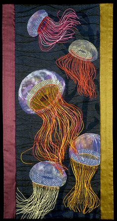 """Ballet de Mer (Ballet of the Sea)"" by Mary Berdan, quilting"
