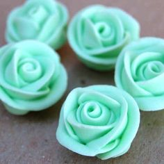 Mint Green Icing Roses from Layer Cake Shop!
