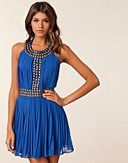 Gold Stud Pleated Dress    Summer is not over!
