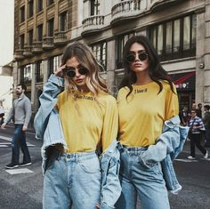 New Quotes Girl Teenagers Bff Ideas Bff Pics, Cute Friend Pictures, 90s Fashion, Denim Fashion, Girl Fashion, Blonde Fashion, Friends Fashion, Fashion Pics, Fashion Clothes